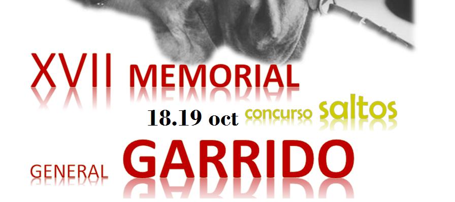 PROGRAMA XVII MEMORIAL GENERAL GARRIDO (18-19 OCT)