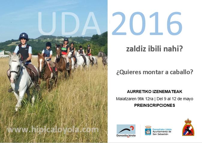 UDA 2016 – AURRETIKO IZENEMATEAK | PREINSCRIPCIONES