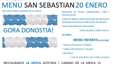 COMIDA DIA DE SAN SEBASTIAN EN EL RESTAURANTE LA HIPICA