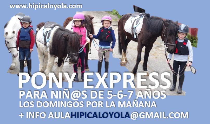 PONY EXPRESS. CLASES EN PONY PARA NIÑ@S DE ENTRE 5 Y 7 AÑOS