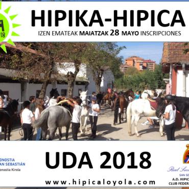 UDA 2018  INSCRIPCIONES A PARTIR DEL  28 MAYO