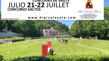 SIGUELO ONLINE! 21-22 JULIO CONCURSO SALTOS PISTA HIERBA