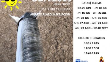 ABIERTO PLAZO INSCRIPCION UDA 2019 (HIPICA / TENIS)