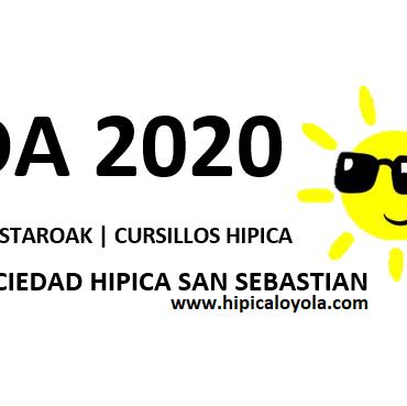 UDA 2020 – HIPICA (10 JUNIO INSCRIPCIONES ONLINE)