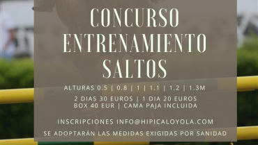 18-19 JULIO CONCURSO ENTRENAMIENTO SALTOS EN LA PISTA DE HIERBA