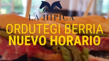 NUEVOS HORARIOS RESTAURANTE LA HIPICA