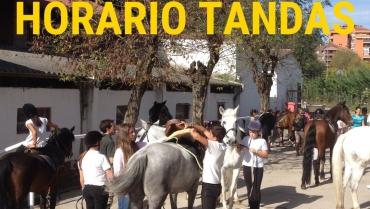 HORARIO TANDAS SEMANA DEL 25 DE ENERO AL 31 DE ENERO