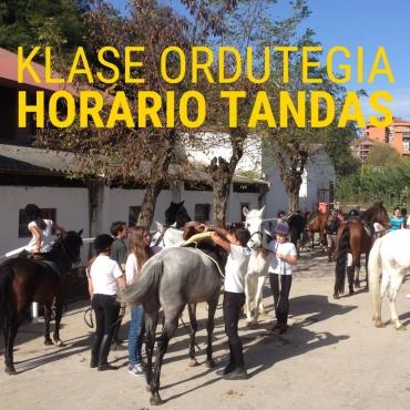 HORARIO TANDAS SEMANA DEL 19 DE ABRIL AL 25 DE ABRIL