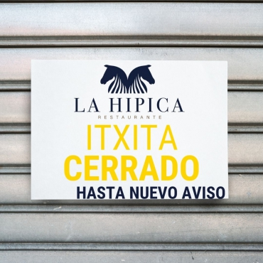 RESTAURANTE CERRADO HASTA NUEVO AVISO
