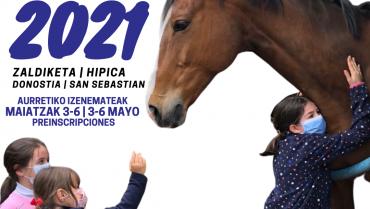 MAIATZAK 2-6 AURRETIKO IZENEMATEAK | UDA 2021 | PREINSCRIPCIONES 3-6 MAYO