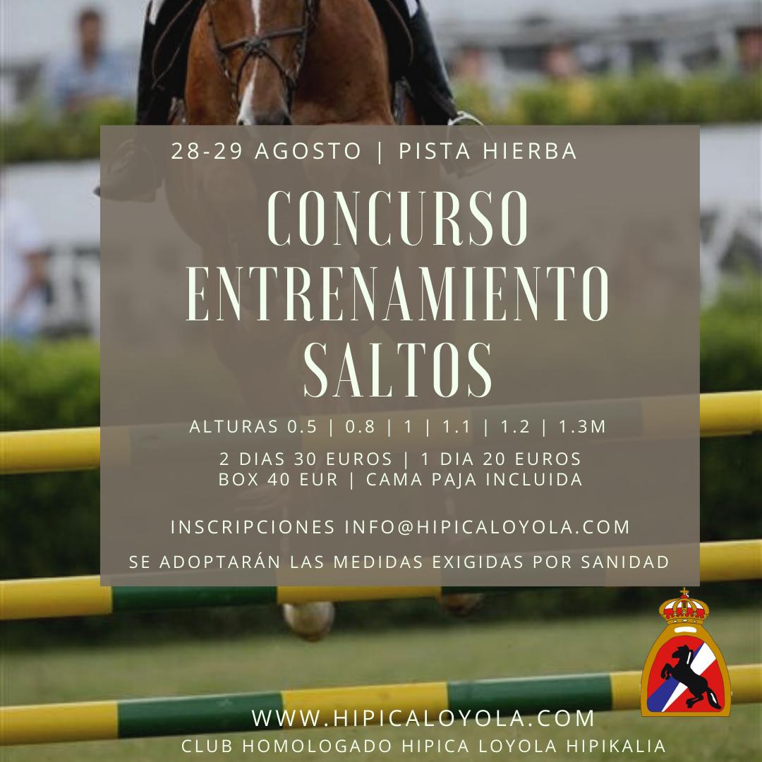CLASIFICACIONES CONCURSO SALTOS ENTRENAMIENTO 28-29 AGOSTO